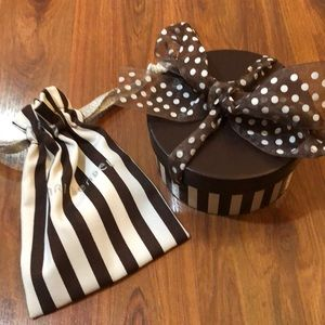 Henry Bendel Jewelry pouch and round box
